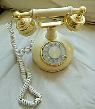 Vintage Bell TELEPHONE Rotary Western Electric 1970s Off White