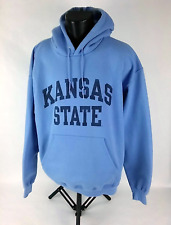 Kansas State University Hoodie Mens Sz XL Blue With Blue Lettering Defect