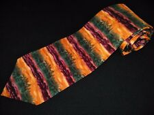 J Garcia Tie Dawn At The Ritz Carlton Coll 8 Horizontal Lines Stripe Bright Silk