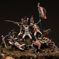 French Imperial Guard at Waterloo 54mm 1/32 Tin Painted Toy Soldier | Art