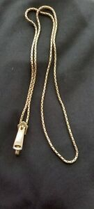 Sterling Silver 925 Solid Zip Necklace 28 inches- Very Unusual!