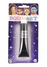 Halloween Black Face Body Paint Cream Make Up - 28g/1oz Scary Fancy Dress U09813