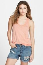 Leith Scoop Neck Tank Coral Pink Juniors Large NWT