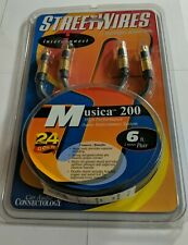 Vintage Streetwires Musica 200 RCA Audio Interconnects 6 FT, 2 Channel 24K