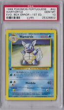 Pokemon PSA 10  Portuguese 1st Ed. WARTORTLE Evolution Box Error (42/102)