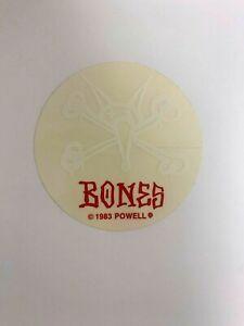 Vintage 1983 Powell Peralta Bones Skater Sticker