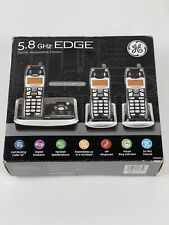 GE 5.8 GHz EDGE Cordless Digital Phone 3 Handset System NEW 25952EE3-A