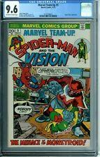 MARVEL TEAM-UP 5 CGC 9.6 SPIDER-MAN VISION PUPPET MASTER NEW CASE MARVEL 1972