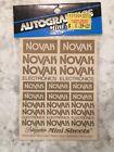 Vintage RC Novak Gold Decals Nip Autograghics Rc10