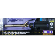 "Hot Tools Pro 1"" Extra-Long Barrel Curling Iron Wand 24K Gold - Free Shipping"