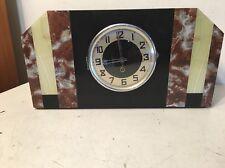 Huge Antique French ? German? Art Deco Mantle Clock Marble Slate Onyx
