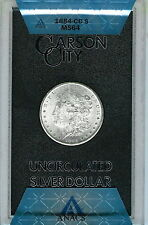 1884-CC  Morgan Dollar GSA Holder :  ANACS MS64 Blazing White