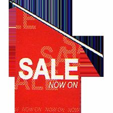 SALE Flag white on red - set of Flag printed SALE double sided, pole & cap - bus
