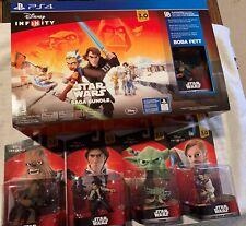 Disney Infinity Star Wars Saga Bundle PS4 + Yoda + Han Solo + Chewbacca Obi-Wan