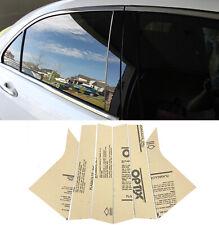 6 pcs Door Trim Piano Cover Kit Gloss Black Pillar Post Fit 14-19 Chevy Impala