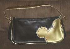 Mickey Mouse - Purse/Handbag with matching Key Chain - Black & Gold - {used/EX}