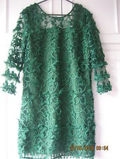 Dark Forest Green Lace Dress Size Small By Zalora Collection (#197)