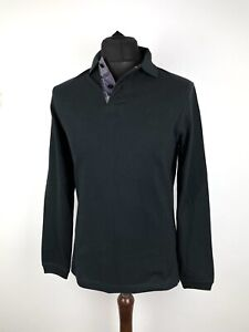 Barbour Long Sleeve Sports Polo Shirt Size Small