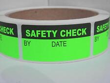 Safety Check 1x2 sticker label production manufacturing Green Fluor 250/rl