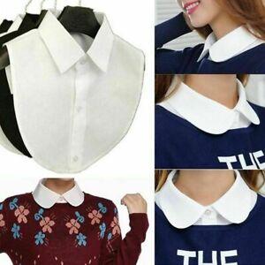 Women False Collar Fake Half-Shirt Blouse Ladies Formal Detachable Collar Bib