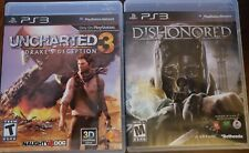 PS3 Lot: Dishonored & Uncharted 3