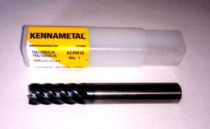 Kennametal 12mm SOLID CARBIDE F6AJ1200ADL45 KCPM15 END MILL  6 FLUTE
