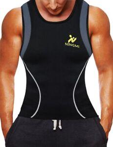 NINGMI Men's Weight Loss Workout Neoprene Body Shaper Sweat Sauna Suit Vest Men