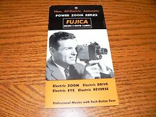 Vintage Fujica Deluxe 8 Movie Camera Brochure~Excellent Condition