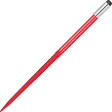 """Vevor 49"""" Square Hd Hay Bale Spear 4500 lb Capacity 1-3/4"""" Wide w/ Nut C3 Sleeve"""