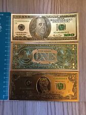 More details for three 24k 999.9 gold dollars, $100,$2,$1 1976 series