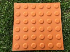 Box of 10 Tactiles with adhesive backing - 300mm square - Terracotta colour