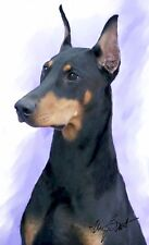 10 Doberman Pinscher Black and Tan Note Cards Wow! How Cute!
