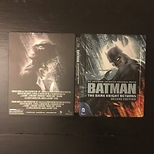 Batman The Dark Knight Returns Deluxe Edition Blu-Ray/DVD Steelbook, Rare OOP