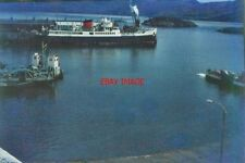 PHOTO  SHIPPING AT KYLE OF LOCHALSH IN 1967 THERE IS A CAR FERRY ON THE LEFT OF