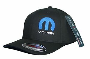 Mopar hat cap fitted flexfit curved bill dodge hemi S/M L/XL XL/XXL Black