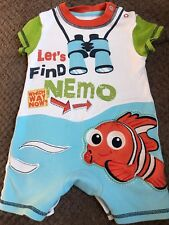 Disney Baby Clothes At George 3-6 Months Finding Nemo Bodysuit All In One Summer