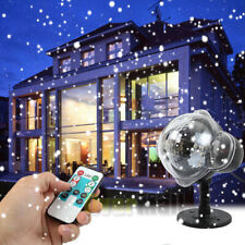 Snow Falling LED Light Projector Moving Laser Outdoor Lamp Garden Christmas