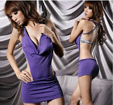 purple clubbing bodycon beach cover up  dress +purple bikini