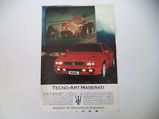 advertising Pubblicità 1991 MASERATI SHAMAL