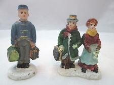 2 Chirstmas Holiday Miniature Figurines - Porter & Couple