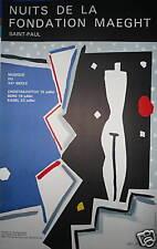 Aki KURODA Affiche originale lithographie musique fondation Saint Paul
