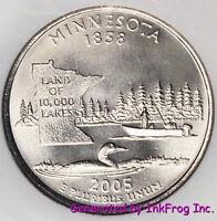 2005 P & D Minnesota State Quarter set Satin Finish Gem Bu