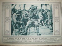Photo article with the India army smoking a hubble-bubble 1916