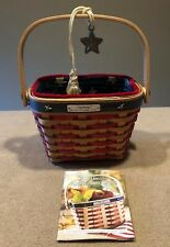 Longaberger 2001 Hostess Appreciation Basket Combo Patriotic Excellent!