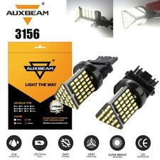 AUXBEAM White 3156 T25 Back Up Turn Signal LED Light Bulb for Ford Chevy Nissan