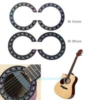 Guitar Circle Sound Hole Rosette Inlay for Acoustic Guitars Decal Accessory DIY