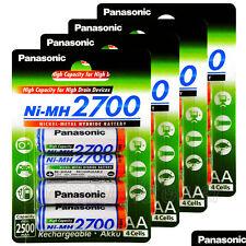 16 x Panasonic AA batteries 2700mAh Rechargeable High capacity Ni-MH Akku LR06