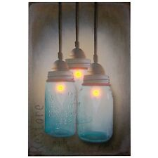 Ohio Wholesale Canning Jar Chandelier Canvas Radiance Lighted Wall Art