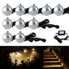 10pcs/set 35mm 12V Half Moon Outdoor Garden Path Stair LED Deck Step Lights Lamp