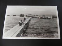 Date Palm Beach California CA Real Photo RPPC Salton Sea Springs Mecca Indio